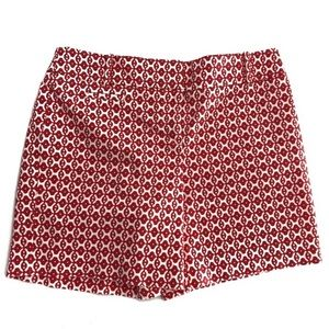 Loft The Riviera Red & White Women's Shorts Size 4
